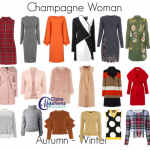 How to dress the Champagne (rectangle)shaped woman in Autumn Winter